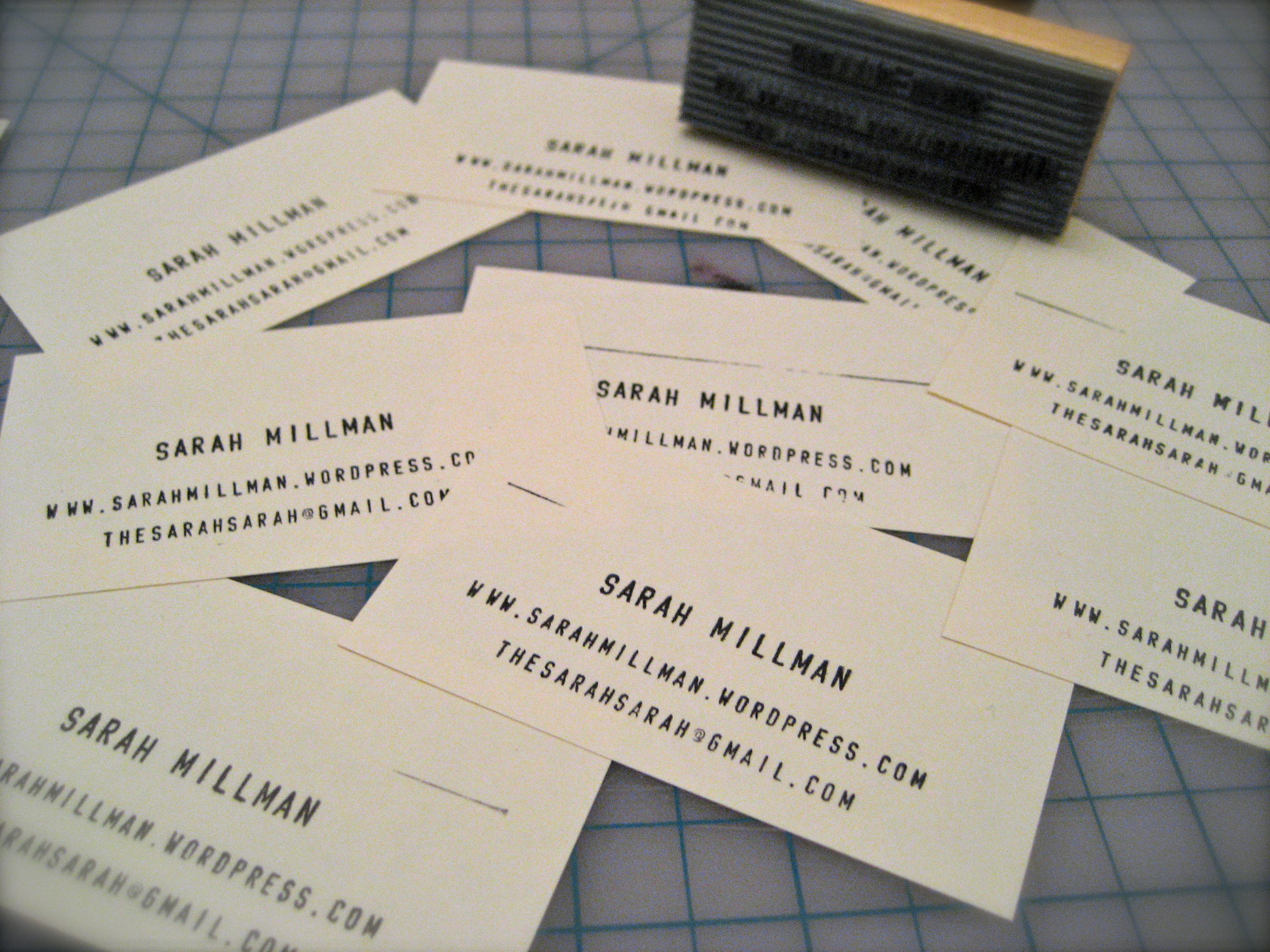 DIY Stamped Business Cards – Sarah Divi