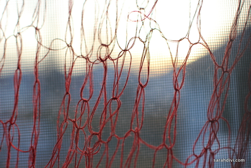 red thread knitting 1