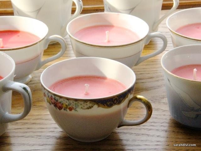 Teacup Candles Party Favors by Sarah Divi