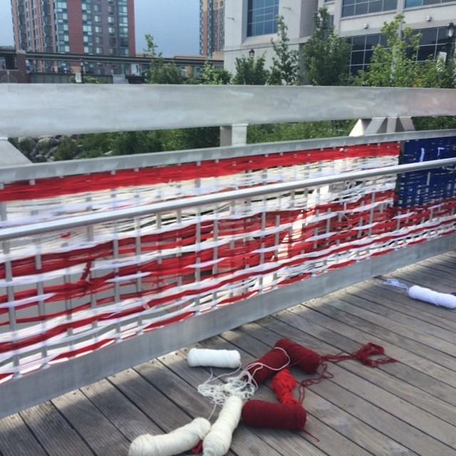 Flag weaving in progress. Photo by katelohenry | SarahDivi.com