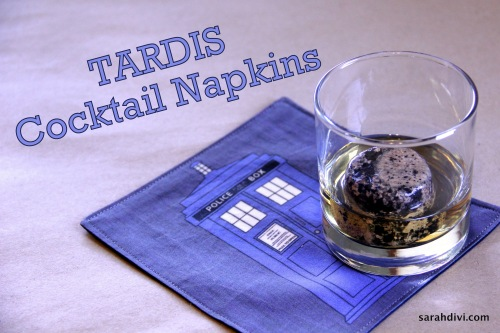 How To: Tardis Cocktail Napkins Tutorial | SarahDivi.com