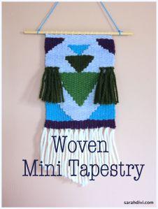 Woven Mini Tapestry Class | sarahdivi.com