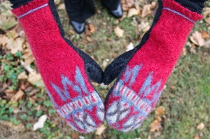 Mittens from Felted Sweaters |