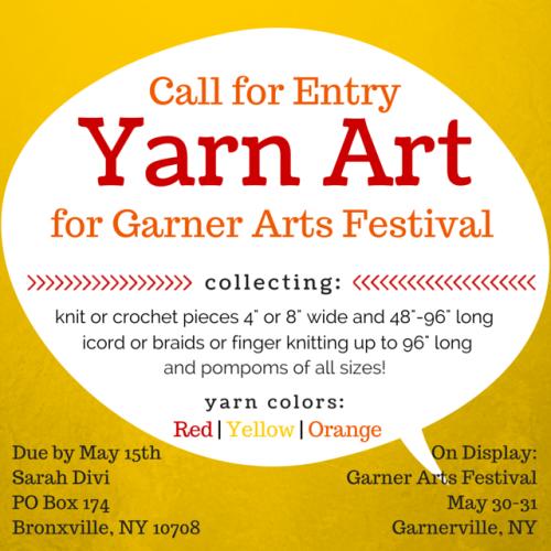 Yarn Art Call for Entry | Garner Arts Festival | SarahDivi.com